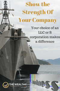 The strength of your business is partly determined by the entity selection: LLC vs the S corporation. Read the facts before deciding. Save taxes with an LLC or S corporation. #wealthyaccountant #llc #scorp #scorporation #company #business #entity #taxes