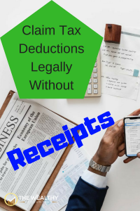 Fake deductions are sometimes legal! Many tax deductions don't require a receipt. Lost receipts and tax records are no problem when you know the rules. Claim every deduct due you even if you don't have substantiation to back it up. Made up deductions can be legal! #deductions #tax #fakedeductions #taxrecords #proof