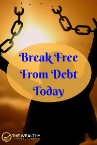 Break free from debt today! The stress of debt is killing you. Get the plan and motivation to end debt in your life today. Regain your financial freedom. #financialfreedom #debtfree #studentloans #creditcarddebt #debt #stress