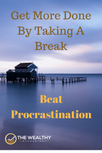 Getting more done doesn't mean working harder or longer hours. A vacation or extended break can beat procrastination. Enjoy life more. Enjoy family and friend. Have plenty of me time. #wealthyaccountant #metime #me #procrastination #family #work #freedom #travel #wealth