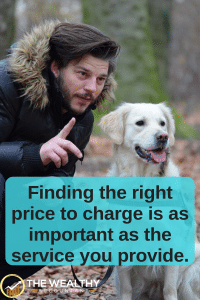 Finding the right price to charge is as important as the service you provide.