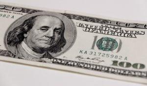 $100 bill. Benjamin Franklin.
